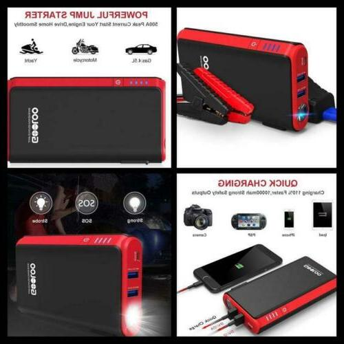 GOOLOO Quick Charge in & Out, 500A Peak SuperSafe Car Jump S