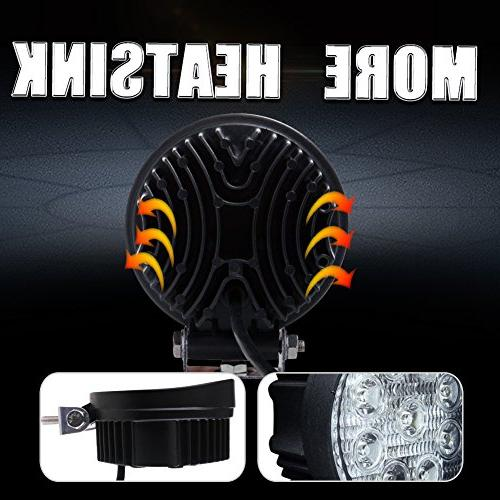 """Led 2PCS 4.5"""" 3000LM Round Off Road Roof Bar for Jeep,SUV Truck , Hunters, 2"""