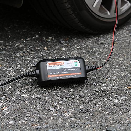 MOTOPOWER MP00206A 12V Fully Automatic Battery for Cars, ATVs, RVs, Powersports, More. Eco Friendly