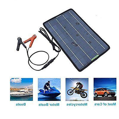 12v 10w Auto Solar Battery Charger Maintainer Marine
