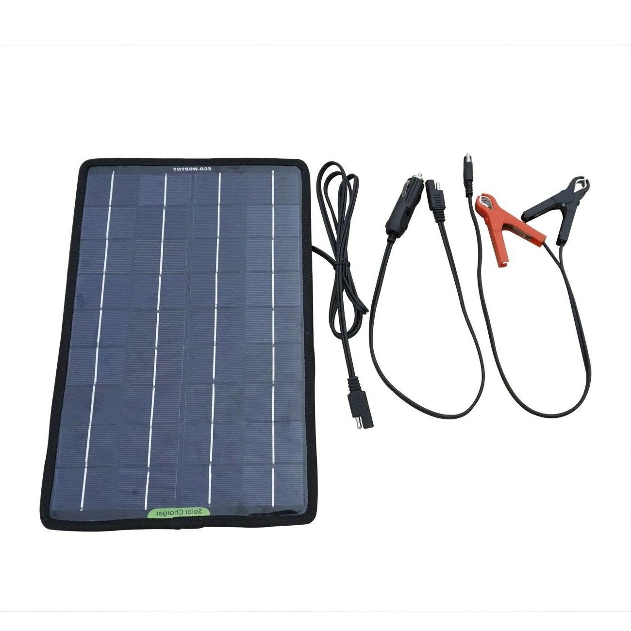 auto solar battery charger maintainer