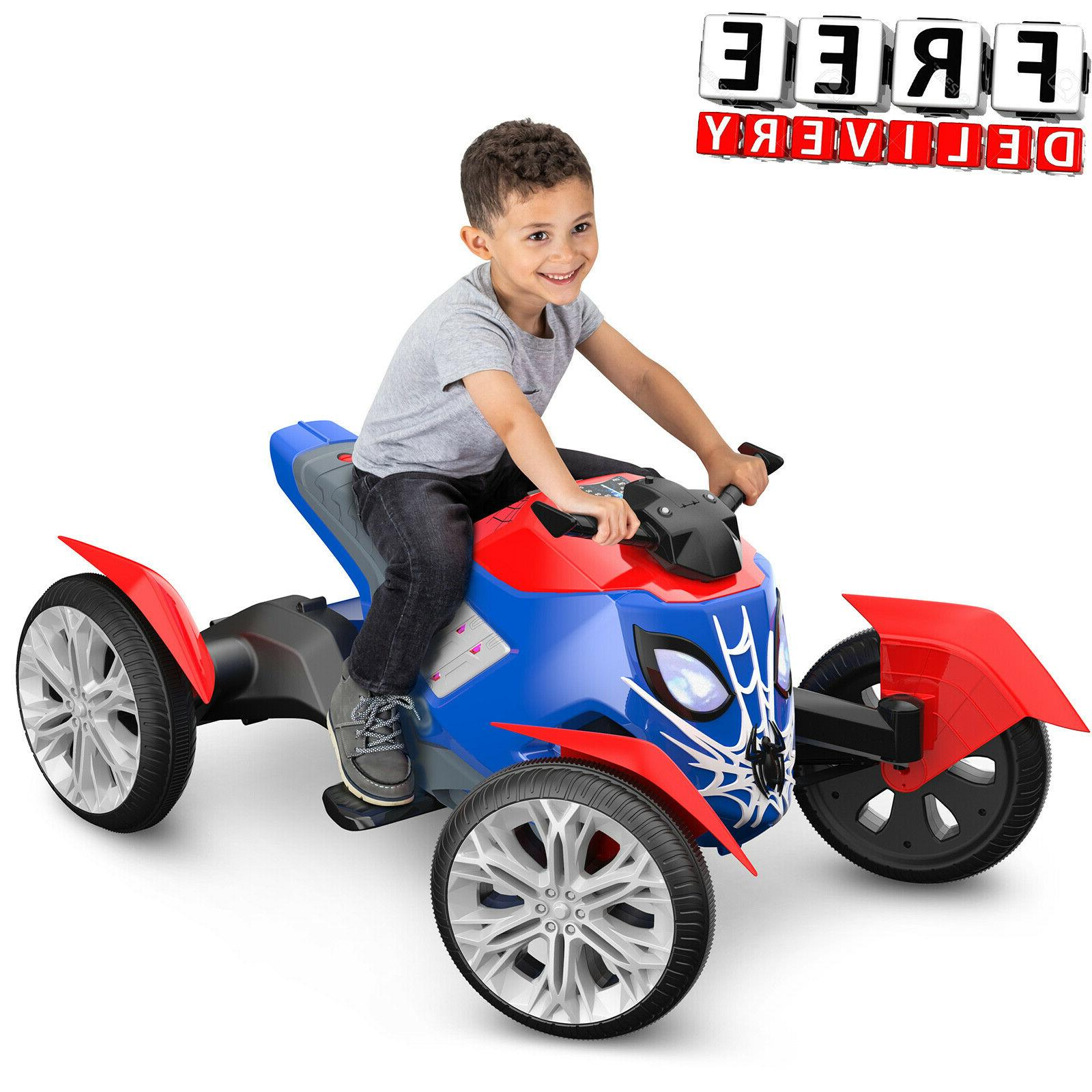 Battery Powered Car For Kids Ride On Toy 6V Trax Spiderman E