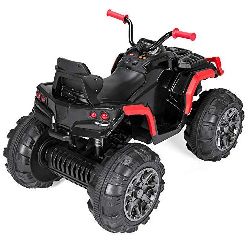 Best Kids Battery Ride-On Vehicle Toy w/ Max Speed, Reverse Function, Treaded LED Radio - Red