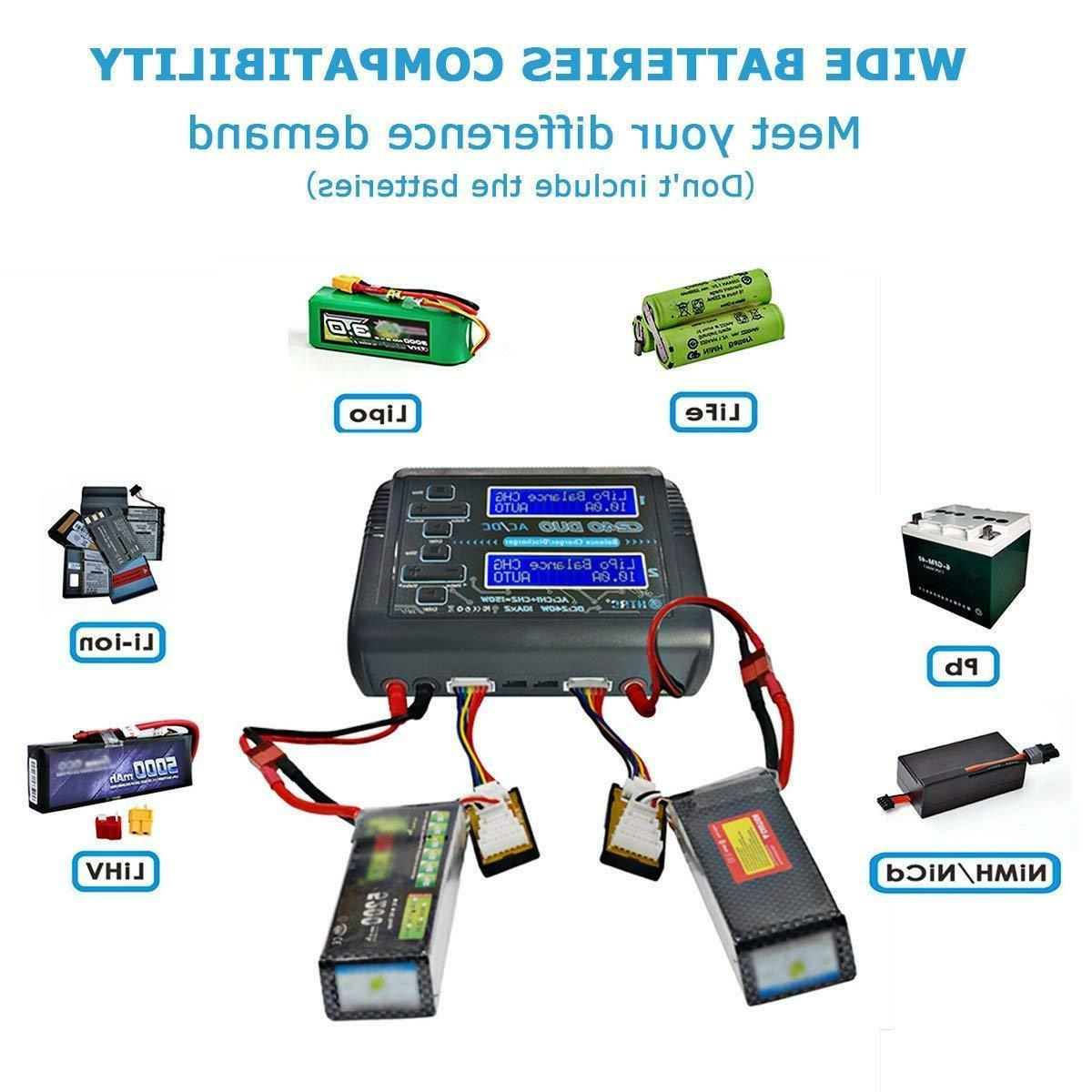 HTRC Dual Channel RC Car Lipo NiMH Balance Charger discharger