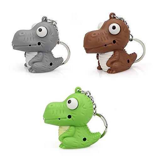 Gbell Dinosaur Toy,Kids Chain LED and Roars for Toddler Girls Bag,Battery Included,1