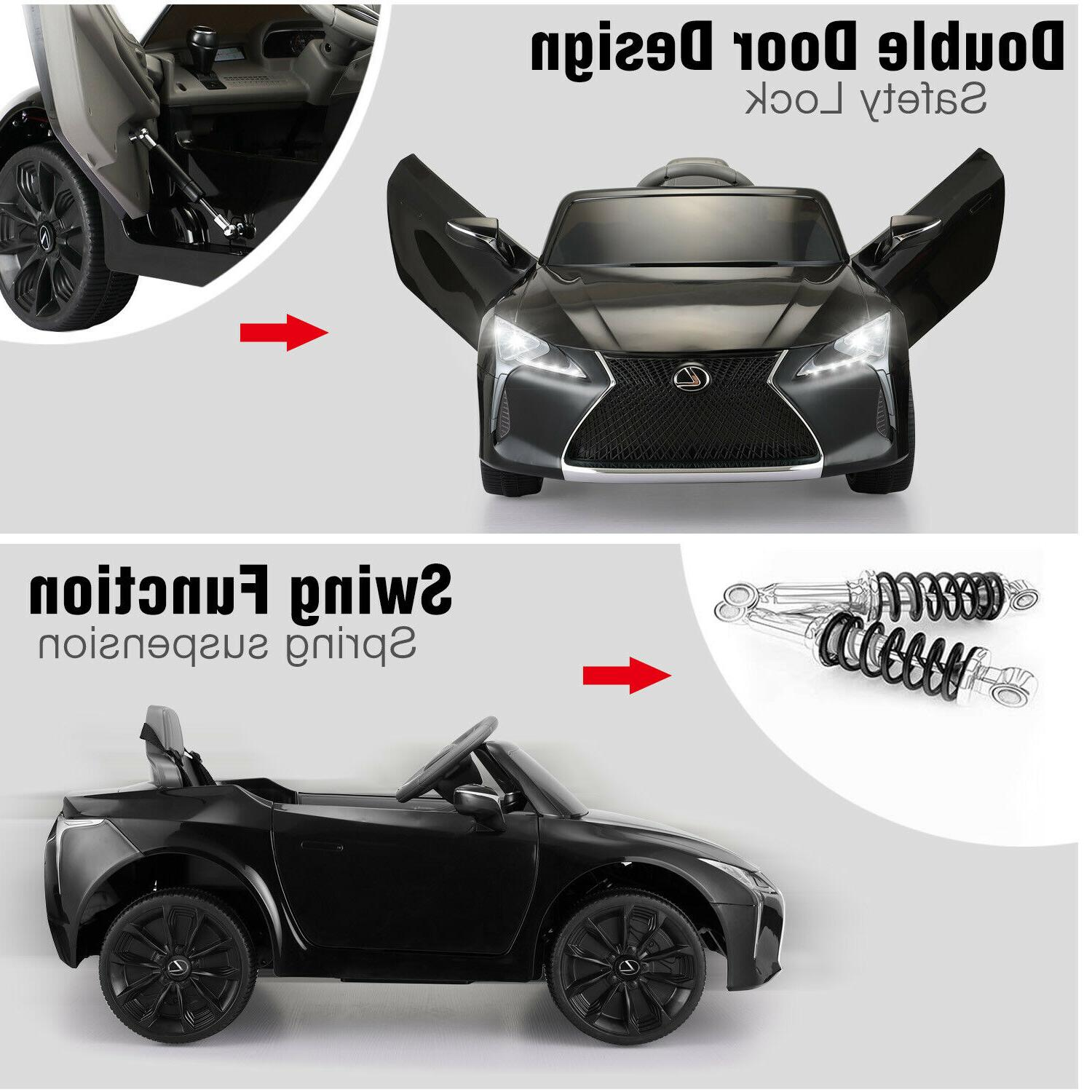Electric Kids On Car Battery Vehicle Toy Control Black