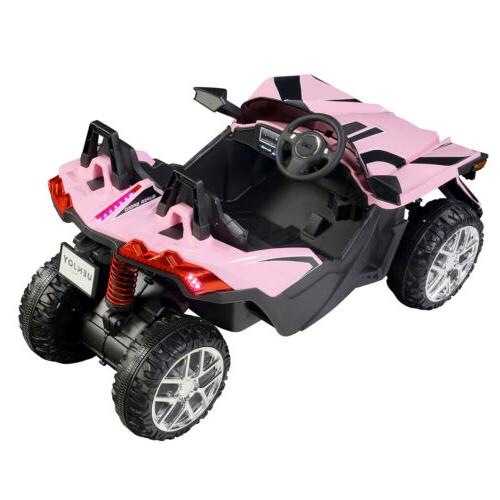 Electric 12V Kids on Toys Battery Music Pink