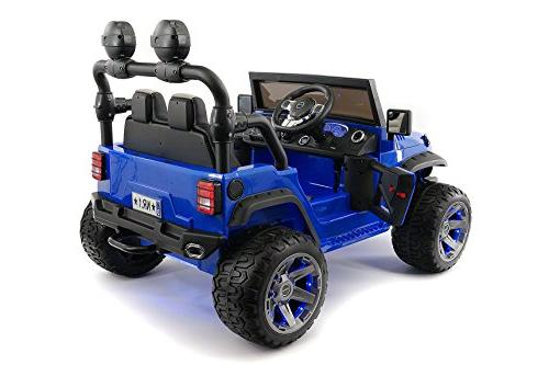 Moderno Kids 2 Seater Power Ride-On Car R/C Remote + EVA + MP3 Player Bluetooth FM Lights