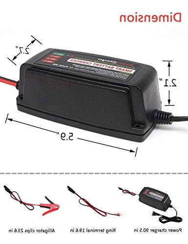 BMK 12V 5A Battery Maintainer Fast Charging Charger Car Lead Acid