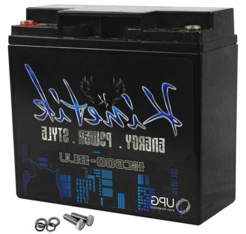 Kinetik HC600BLU 600 Watt 18 Amp Hour Car Audio Battery
