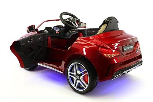 Moderno Kids Mercedes Children Car R/C Battery LED Lights Point Seat Music Player Baby Tray Floor