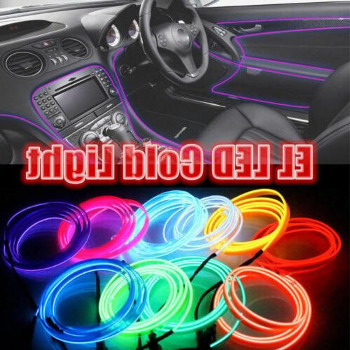 Neon LED EL Wire Rope Party + Controller