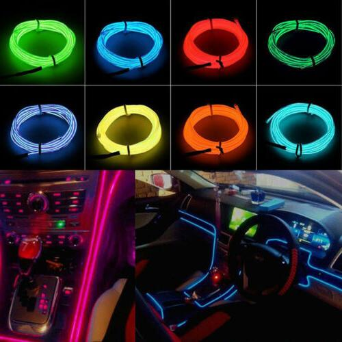 Neon LED EL Wire Rope Car Party +