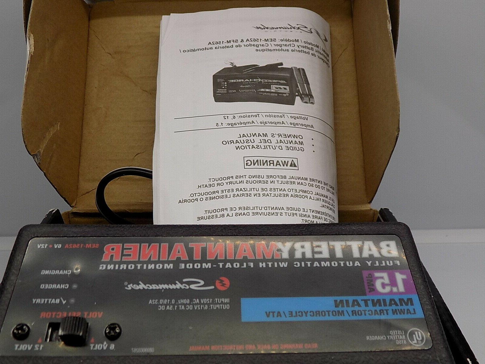 New Schumacher SEM-1562A-CA Amp Charge Battery Maintainer