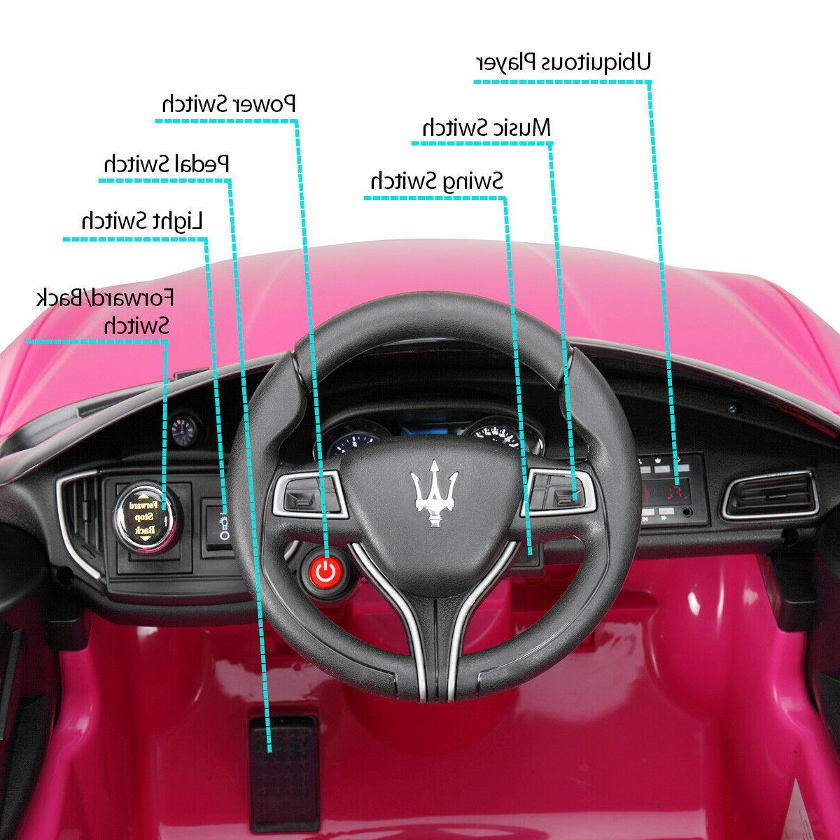 Pink Kids On Electric Toy Car with Remote Control