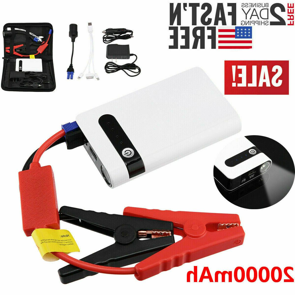 portable mini slim 20000mah car jump starter