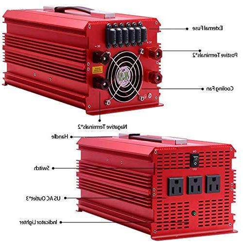 BESTEK Watt Inverter DC to AC for with Wave Car Battery Clamps Power Powering &Emergency …