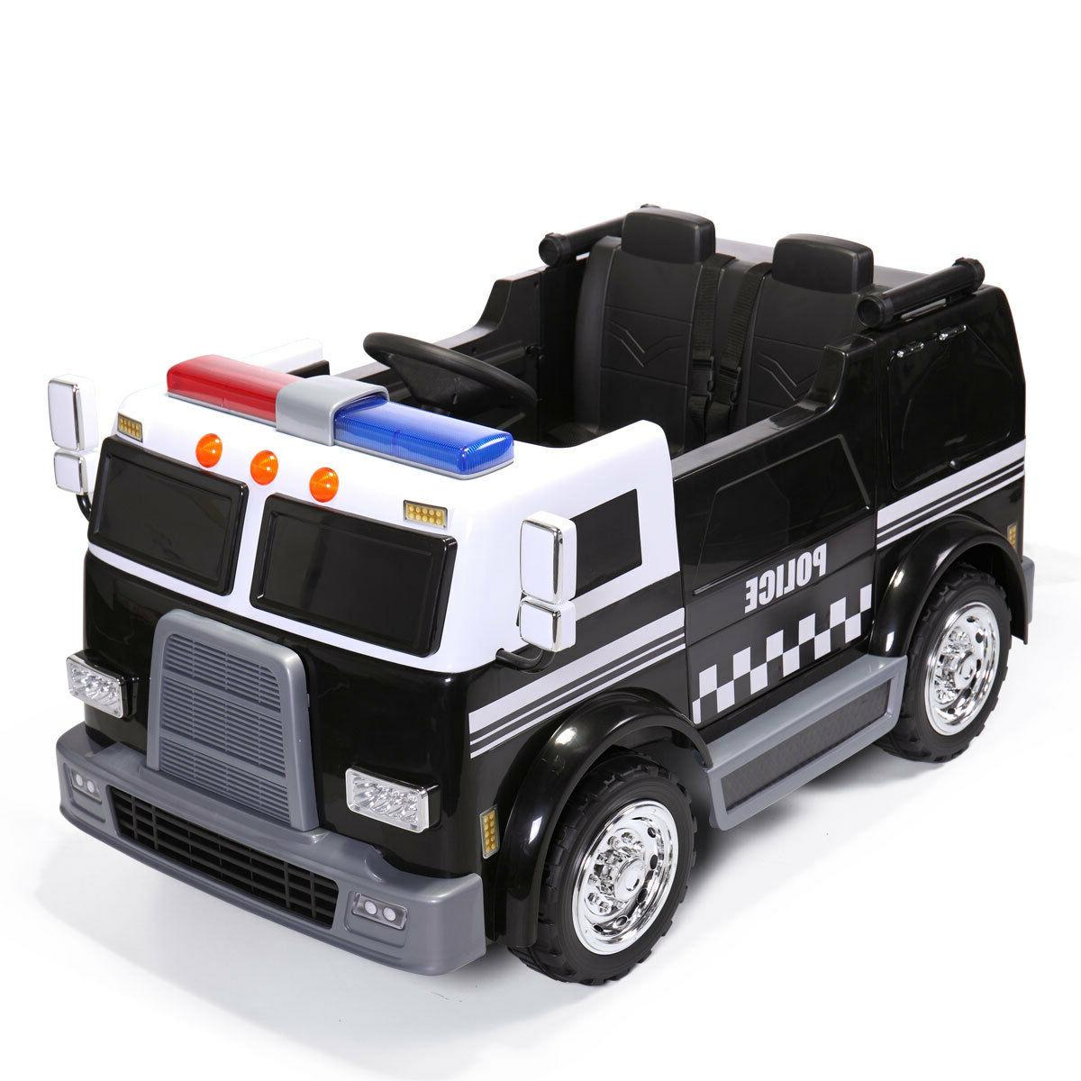 ride on car kids police truck electric