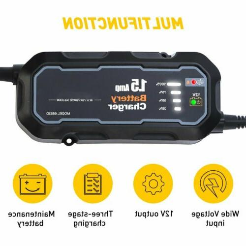 1500mAh Car Jump Starter Booster Jumper Bank Charger Portable