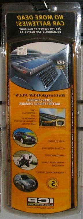 solar powered battery trickle charger for cars