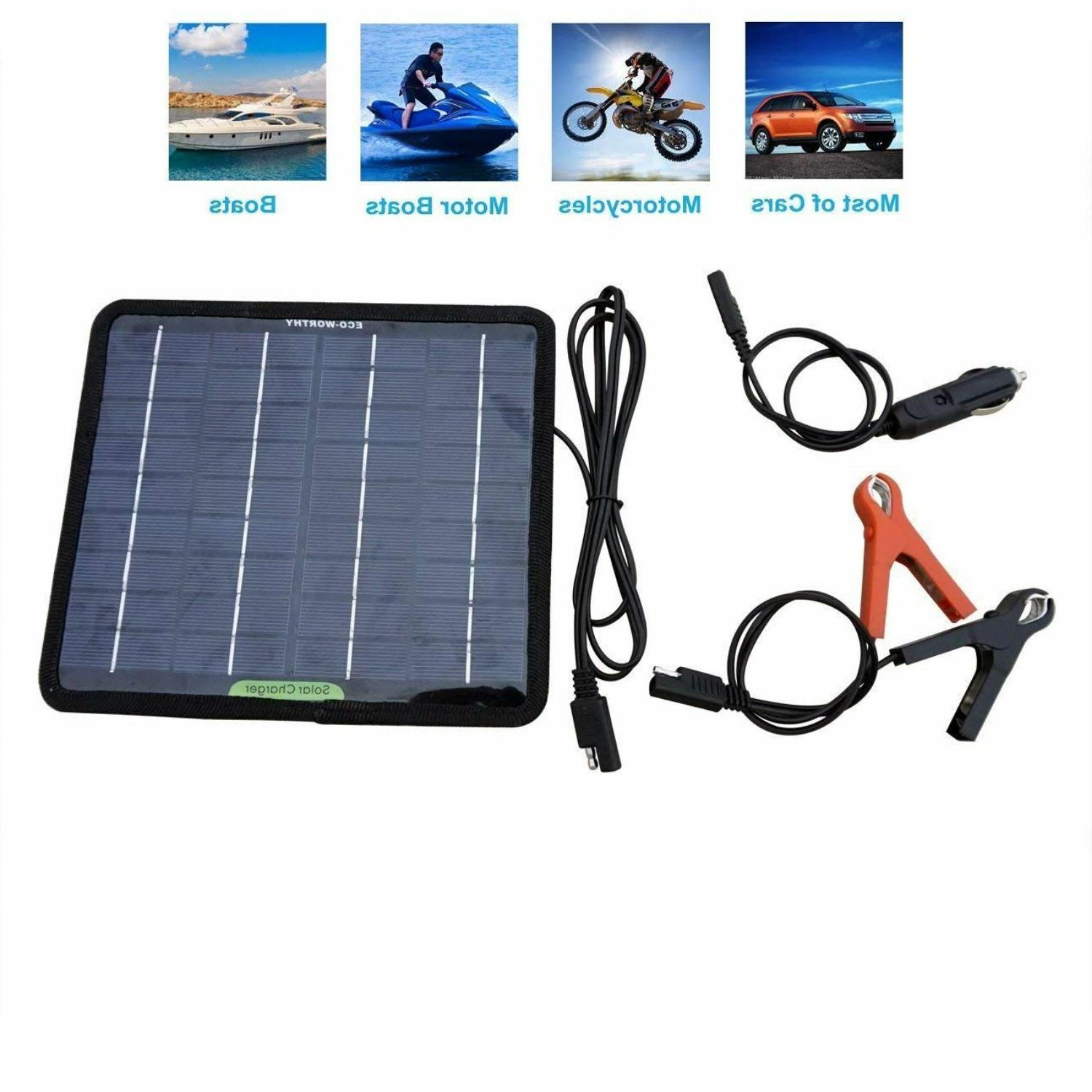 solar powered panel battery charger maintainer car