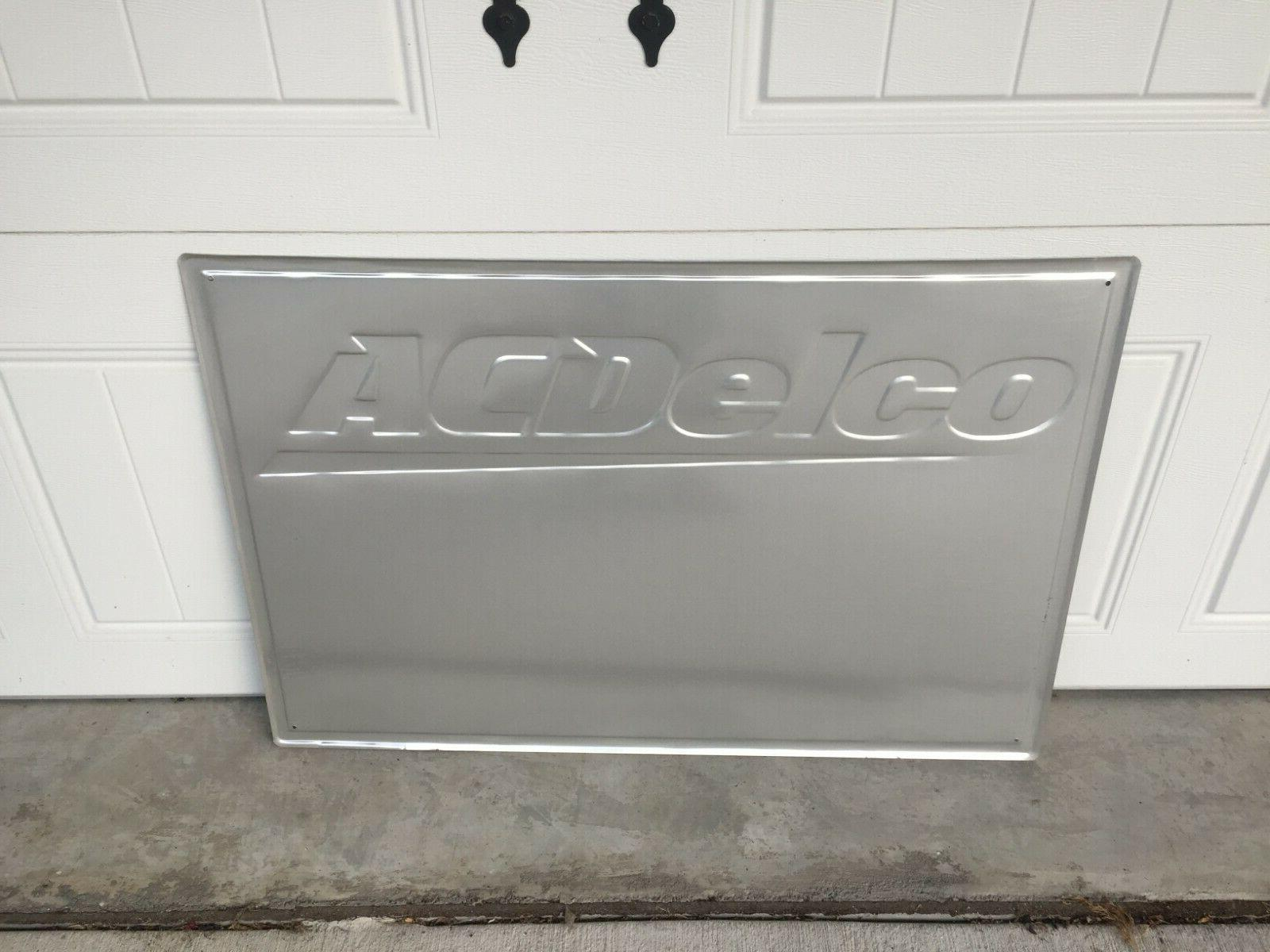 """Vintage ACDelco Sign 36"""" x Cave, Sign Car Club"""