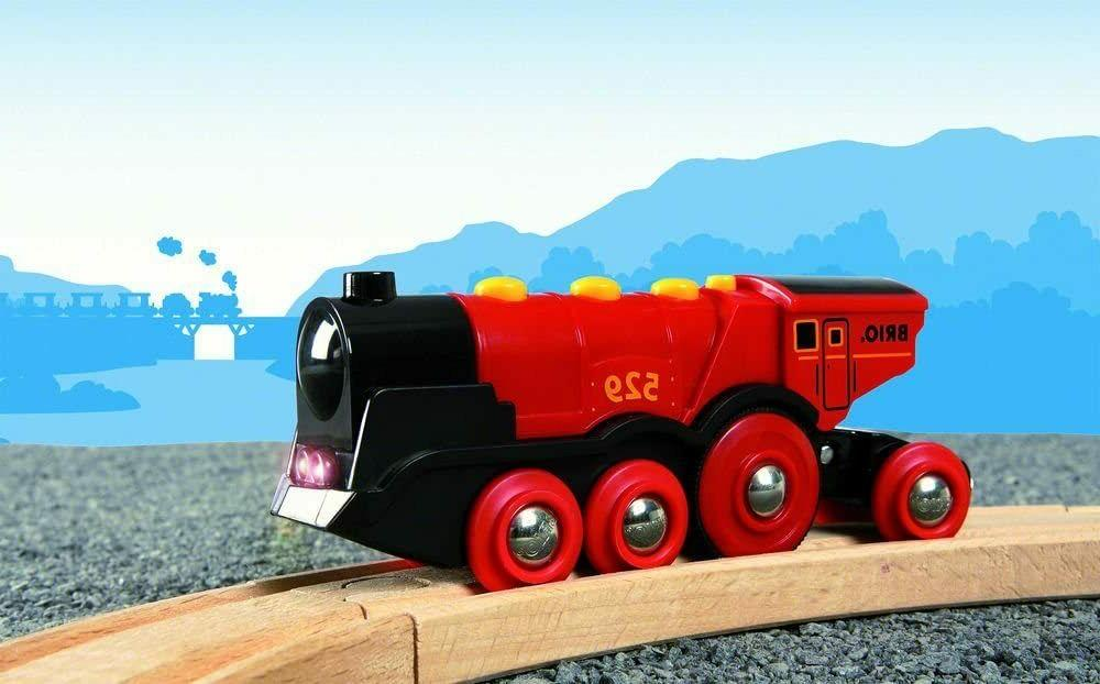 Red Action Locomotive Battery Operated Toy with