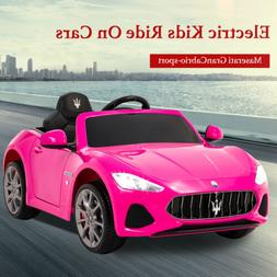 12V Electric Kids Ride On Car Toy Maserati GranCabrio MP3/US