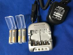 One set of AC/DC 12v Car Charger+4 AA Rechargeable 2.5Ah +4