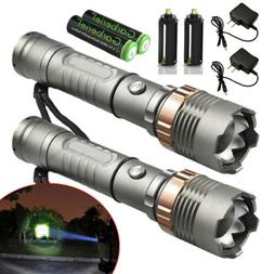 Police Tactical 90000LM T6 LED 5Modes Rechargeable Flashligh