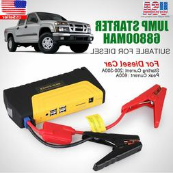 Portable Mini Slim 68800mAh USB Car Jump Starter 12V Battery