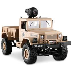 LBLA RC Military Truck with Wi-Fi HD Camera, 1:16 Scale Remo