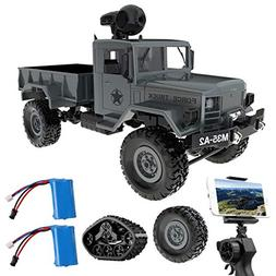 Remokids RC Military Truck with Wi-Fi HD Camera, 1:16 Scale
