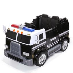 Ride On Car Kids Police Truck Electric 12V Battery Powered 2