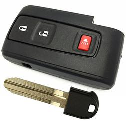 Toyota Prius Key Fob Cover Case Shell Replacment with Blank