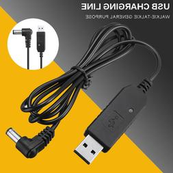 USB Power Charger Cable For Baofeng Walkie Talkie UV82 BFF8H
