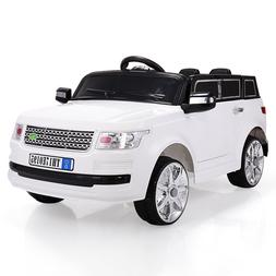 White 12V Kids Ride On Car W/MP3 Electric Battery Power Remo