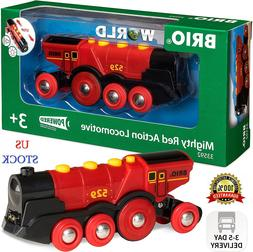 Brio World 33592 Mighty Red Action Locomotive | Battery Oper